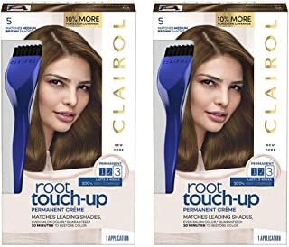 Clairol Nice 'n Easy Root Touch-Up 5 Kit, Matches Medium Brown Shades of Hair Coloring, Includes Precision Brush Applicator Tool (Pack of 2)