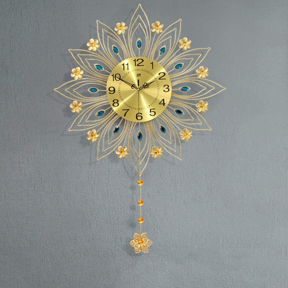 Luxury Crystal Wall Clock Home セール品 Me Big 直送商品 Decoration Oversized