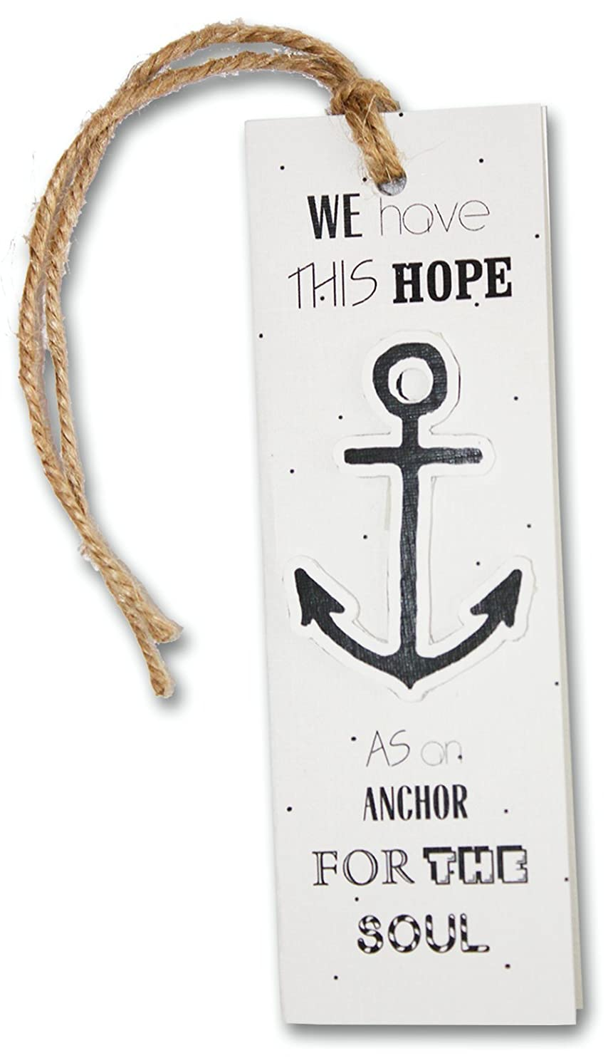 Lucas-S LN-19 Bookmark Embroidery Kit/Motif Navy Anchor / 15 x 5 cm