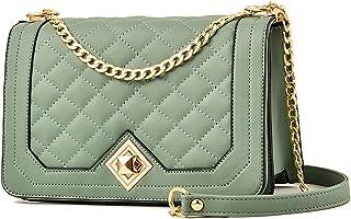 Travistar Handtaschen Damen Umhängetasche Klein Gold Kette Schulterriemen Crossbody Bag Lingge Tasche Schultertasche Abend...
