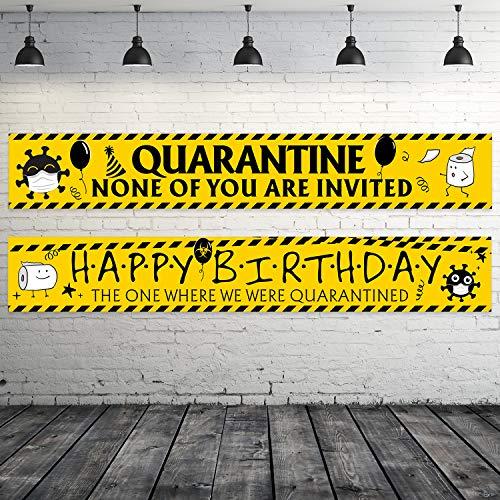 Sumind 2 Piezas Pancarta de Cumpleaños de Cuarentena Póste