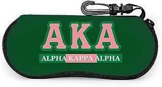 Alpha Kappa Alpha Portable Travel Sunglasses Case Light Neoprene Zipper Eyeglass Box Bag