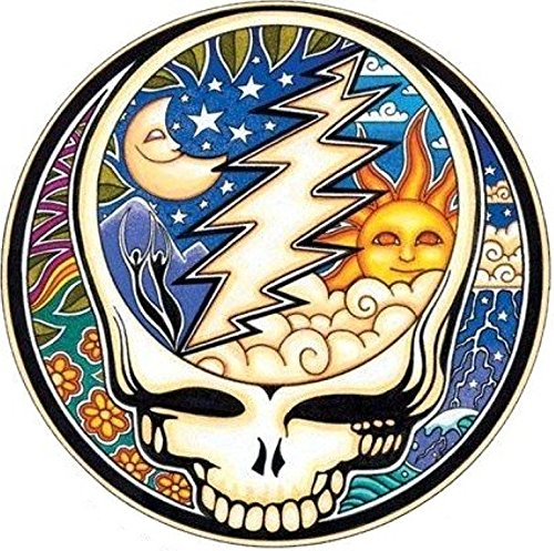 Grateful Dead Night and Day Steal Your FACE Bumper Sticker Helmet Sticker