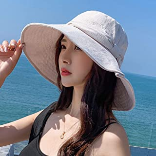 Sun Hat Women Uv Protection Foldable Solid Color Bow Wild Female Summer Foldable Shade Sun Protection Beach Outing Travel ...