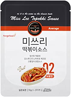 MISS LEE Korean Foods Topokki Ddeokbokki Stir-fried Rice Cake Sauce, Level 2 Mild - Pack of 3