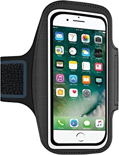 Asstar Armband for iPhone 8 Plus 7 Plus 6s/6 Plus, LG G6, Galaxy S9/S8/S7 Edge, Google Pixel (Fits Otterbox Defender Lifeproof case) [Water Resistant] Universal Running Pouch Key Holder (Black)