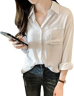 [スカイシイ] 3色展開 Yシャツ オフィス カジュアル レディース 大きいサイズ M~2XL
