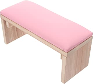 FOMIYES Nail Arm Rest Hand Cushion Wooden Nail Art Hand Rest Nail Cushion Stand PU Leather Cushion Manicure Tool For Manic...