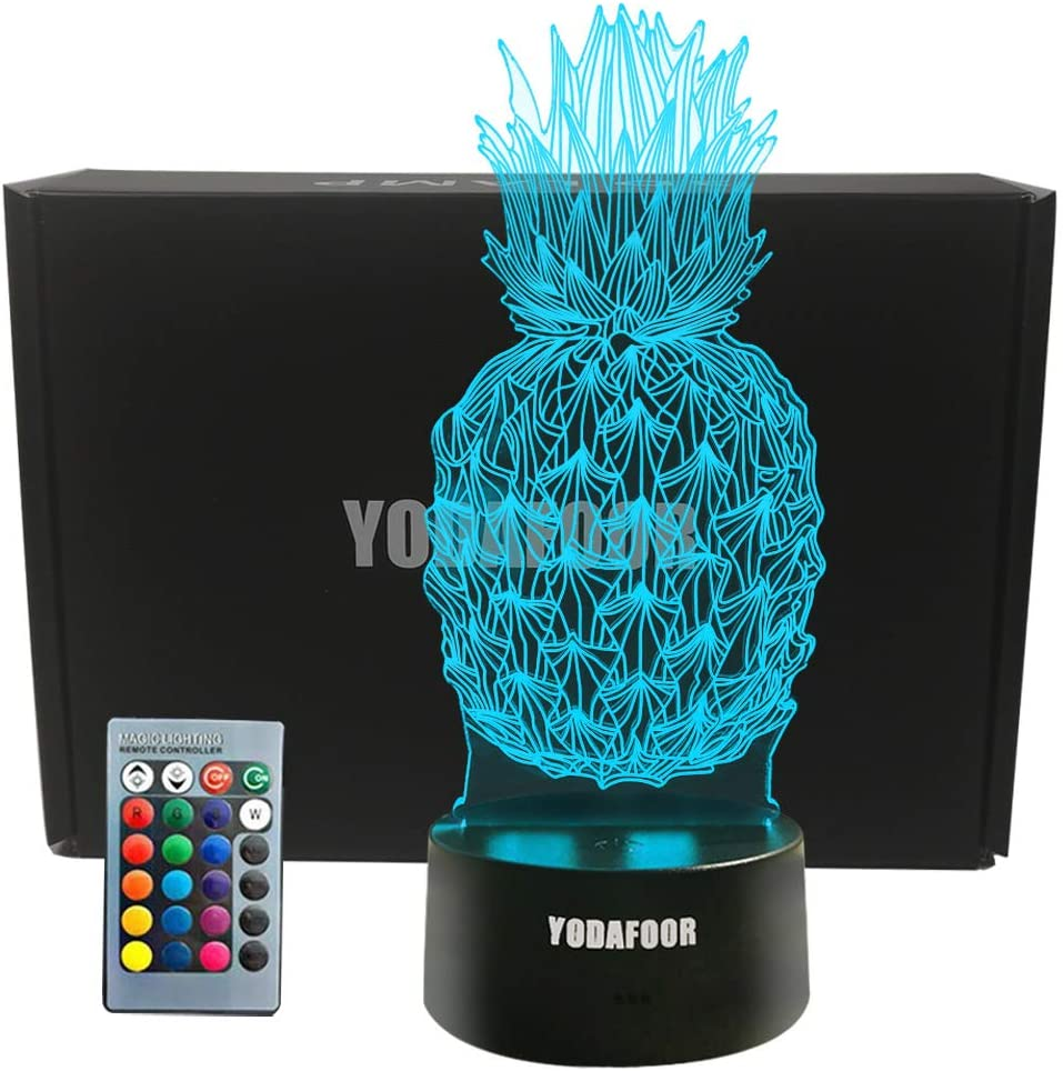 Boston Mall Mail order cheap YODAFOOR Night Lights for Kids Be 3D Gifts Light Pineapple