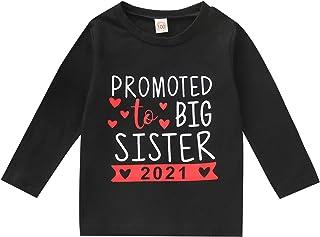 2021 طفل فتاة أخت كبيرة طباعة ملابس الزي تي شيرت أعلى بلوزة قمصان