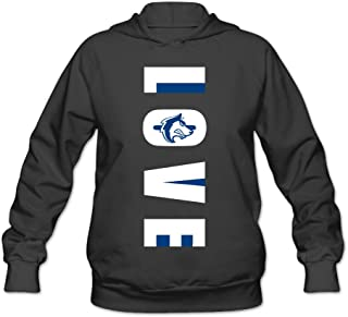 CYANY CSU Pueblo Love Vertical Colorado State University Women's Graphic Hoodies Sweater Black