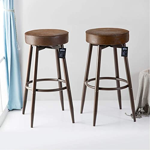 Marvelous Round Upholstered Bar Stools Amazon Com Beutiful Home Inspiration Aditmahrainfo