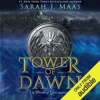 Tower of Dawn     A Throne of Glass Novel              Written by:                                                                                                                                 Sarah J. Maas                               Narrated by:                                                                                                                                 Elizabeth Evans                      Length: 22 hrs and 39 mins     144 ratings     Overall 4.7
