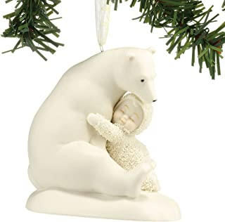 "Department 56 Snowbabies ""Big Bear Hug"" Porcelain Ornament, 3.25"""
