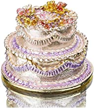 YU FENG Cake Figurine Jewelry Trinket Box for Women or Girls
