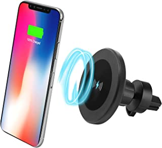 XINLON Magnetic Fast Wireless Car Charger,Wireless Charging for Samsung S9 S9+ S8 S8+ S8 Plus S7 S7 Edge S6 Edge Plus Note 8、Apple iPhone X/8/8 Plus and All QI-Enabled Devices(No Car Charger)
