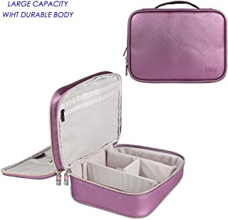 BUBM Travel Electronics Cable Organizer Bag, Double Layers Laptop Accessories Carrying Case, Electronic Gadget Storage Case for Power Bank Adapter Hard Drive Kindle Charger Cords USB (Large Purple).