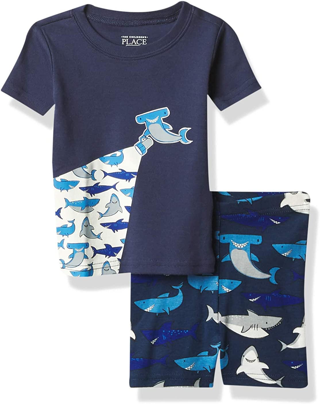 The Children's Place Baby Boys' Shark Two Piece Pajama Set