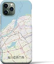 【新潟】地図柄iPhoneケース(バックカバータイプ・ナチュラル)iPhone 11 Pro 用 <全国300以上の品揃え> シンプル おしゃれ 大人 個性的 耐衝撃素材のiPhoneカバー(アイフォンケース アイフォンカバー スマホケース スマホカバー)