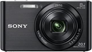 Sony DSC DSCW830B Cyber-Shot Digital Camera Point & Shoot, Black