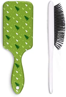 Cute Hair Brush Green Christmas Tree Anti-static Unisex Funny Broken Styling Man`s Head Comb