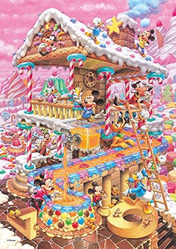 266ピース ジグソーパズル ディズニー おかしなおかしの家 ぎゅっとシリーズ 【ピュアホワイト】(18.2x25.7cm)