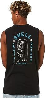 Swell Men's Coastal Dreams Muscle Sleeveless Cotton Black