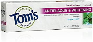 Tom's of Maine Antiplaque Tartar Control Peppermint Whitening Toothpaste, 5.5 Ounce - 6 per case.