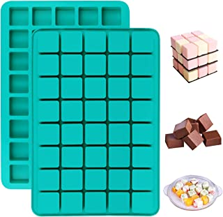 Mity rain 2 Pack 40-Cavity Square Caramel Candy Silicone Molds,Chocolate Truffles Mold,Whiskey Ice Cube Tray,Grid Fondant ...