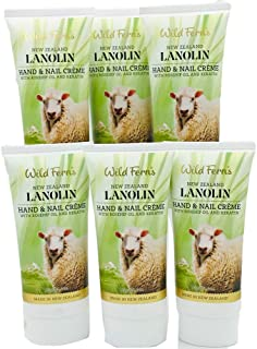 Wild Ferns Lanolin Hand and Nail Creme with Rosehip Oil and Keratin (6 Pack)