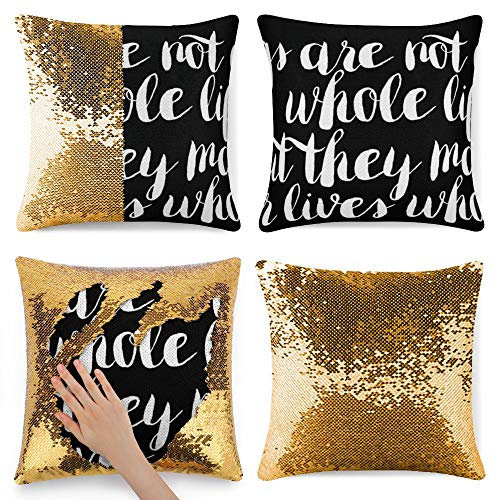Tamengi Sequin Pillow Cover, Adorable Dog, Zipper Pillowslip Pillowcase, Decorations for Sofas, Armchairs, Beds, Floors, Cars