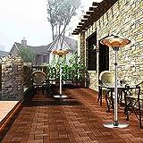 YBCM Terrassenheizer, Heizpilz, 3 Heizstufen, Kippschutz, IP44 Spritzwasserfest, für Innen- und Außenbereich