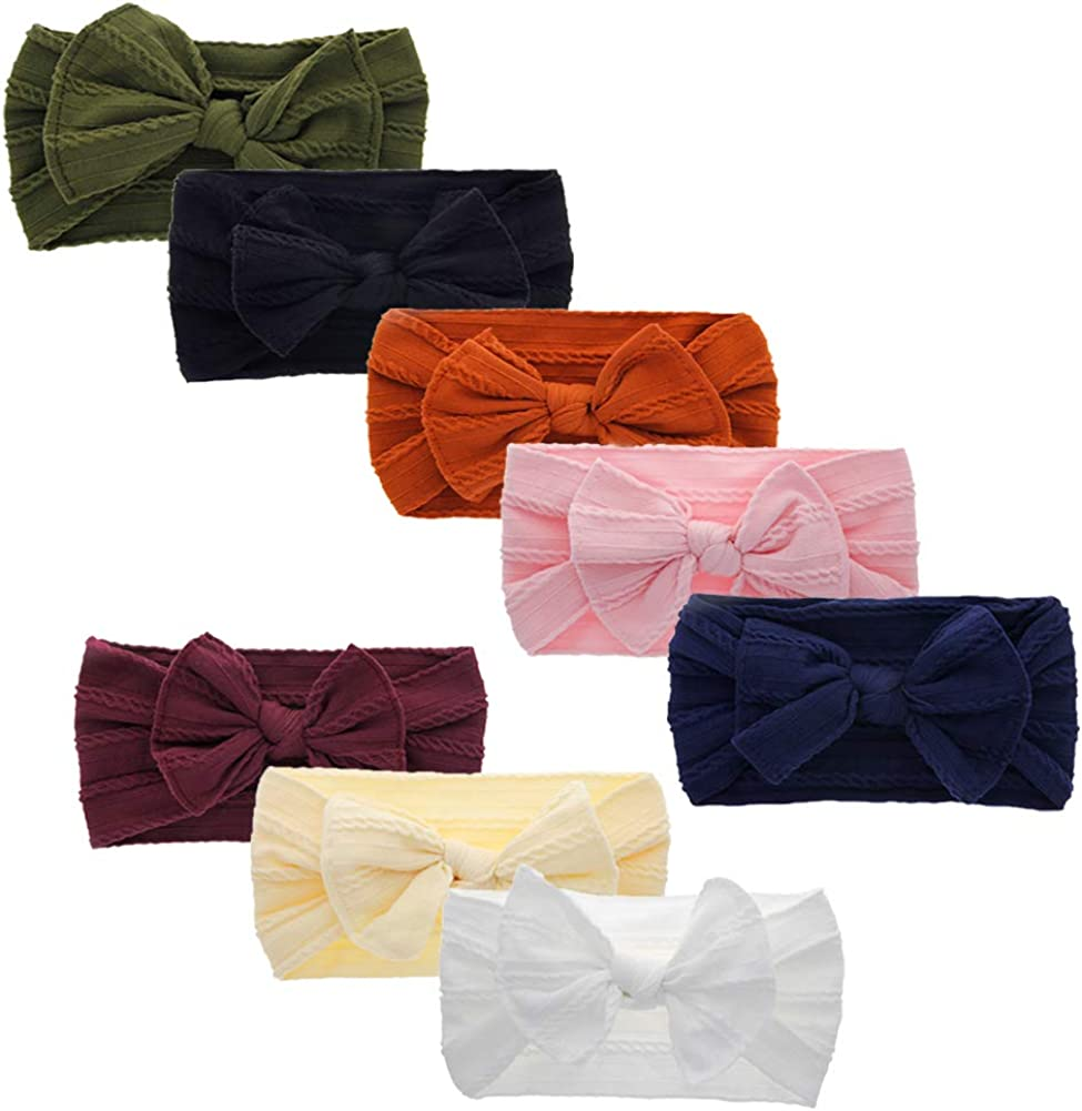 Baby Headbands Hairbands Hair Bow Elastics for Baby Girls Newborn Infant Toddlers Kids