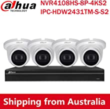 Dahua 8CH PoE Home Security Camera System, 4MP Starlight PoE IP Cameras with Build in MIC, 4K 8-Channel NVR(NVR4108HS-8P-4...