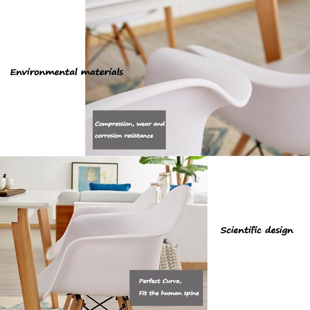 HURONG168 Chaises de cuisine Fauteuil mode créatif/tabouret de personnalité/chaise en plastique Nordic chair siège lounge (Couleur : Blanc) Orange