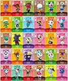 30 Stück NFC-Mini-Cards für Animal Crossing: New Horizons Amiibo, Seltene Dorfbewohner mit Kartenhalter für Switch/Schalter Lite/Wii U