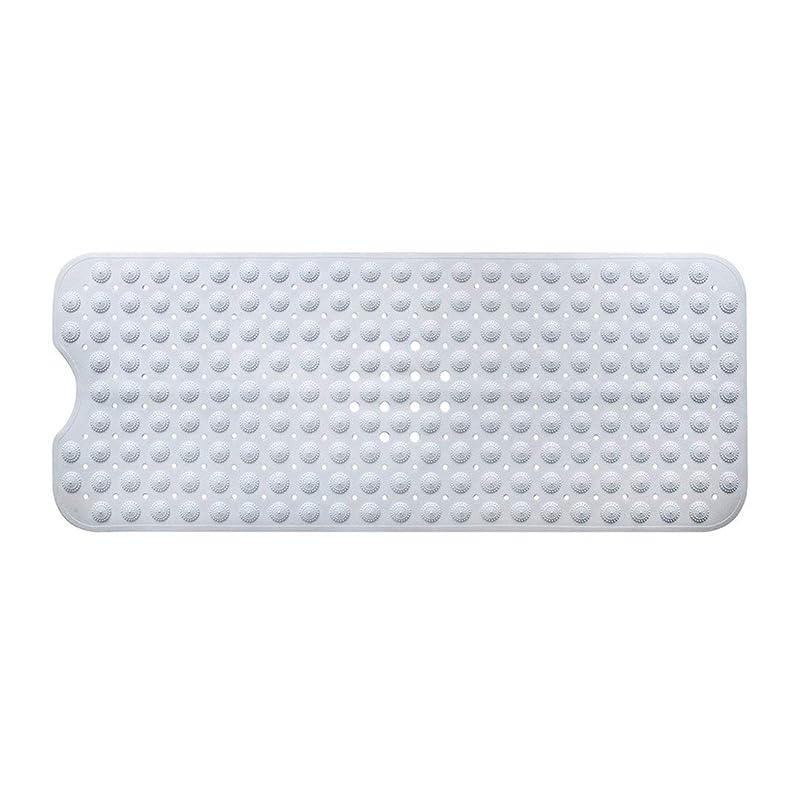 Swiftgood エクストラロングバスタブマットカビ抵抗性滑り止めバスマット洗濯機用浴室用洗えるPVCシャワーマット15.7