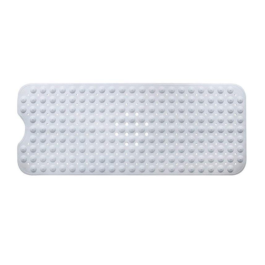 整然としたシネウィクランシーSwiftgood エクストラロングバスタブマットカビ抵抗性滑り止めバスマット洗濯機用浴室用洗えるPVCシャワーマット15.7