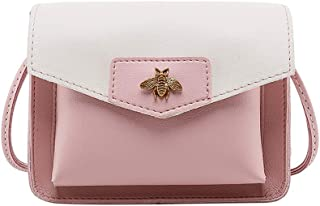 Wultia - Bags for Women 2019 Women Contrast Laminated Single Shoulder Bag Messenger Bag Bolsa Feminina Pink