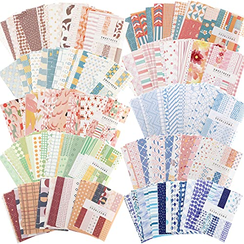 500 Hojas Suministros de Papel Vintage para Álbumes de Recortes de Bricolaje...