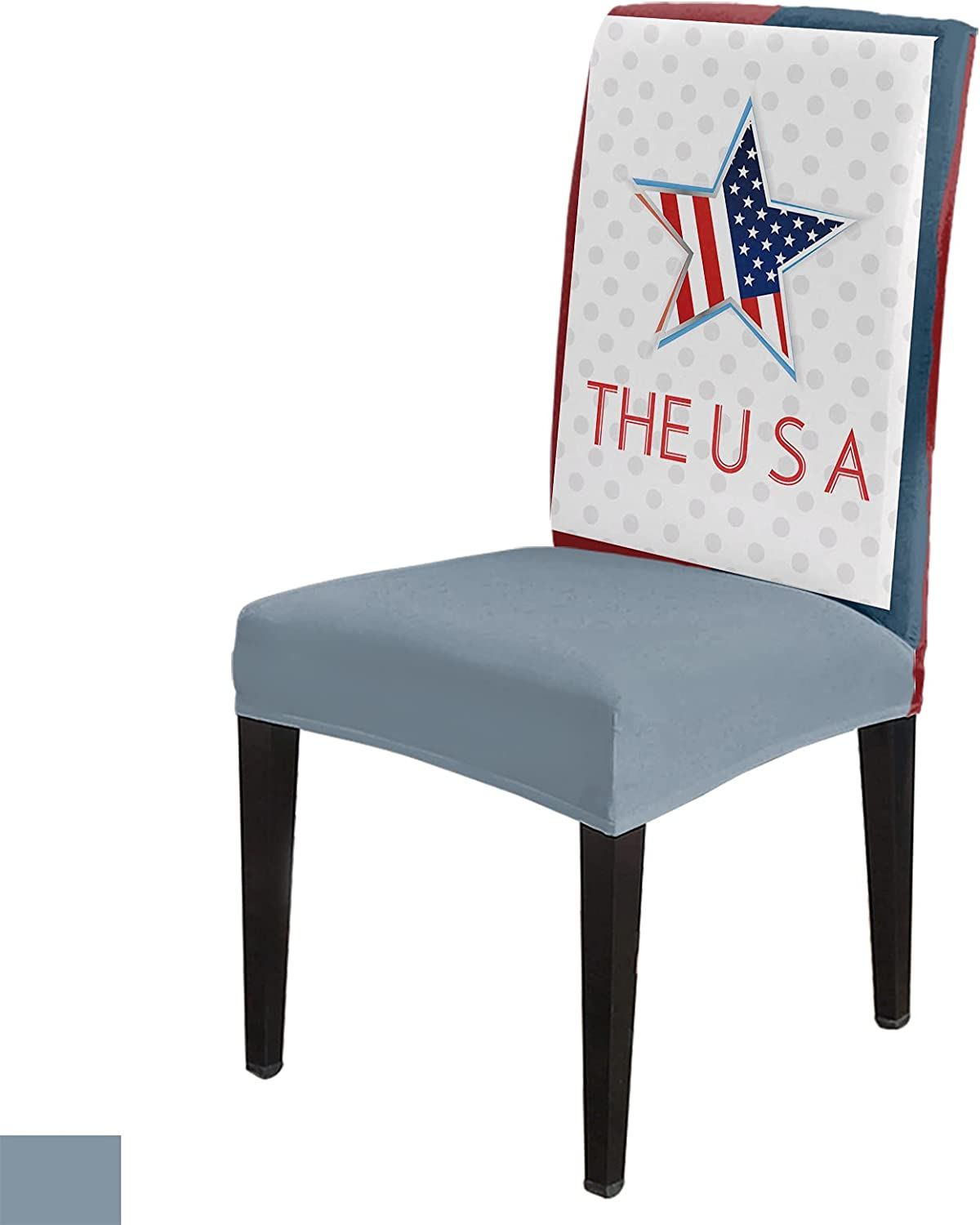 Stretch Chair Cover Dining Room OFFicial store Covers Max 50% OFF Set 8 Usa Flag of