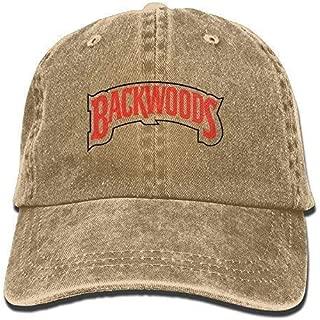 Backwoods Men's Black Adjustable Vintage Washed Denim Baseball Cap Dad Hat Trucker Cap Natural