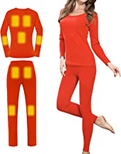 Sidiou Group Elektrische verwarming Thermo-ondergoed set oplaadbare verwarmde ondergoed dames thermo-ondergoed set heren w...