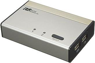 ラトックシステム パソコン自動切替器 USB接続DVI/Audio対応(2台用) REX-230UDA