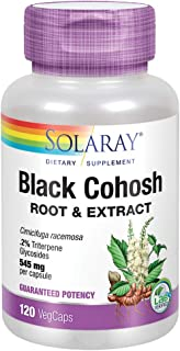 Solaray Black Cohosh Root & Extract 545mg | Womens Health & Menopause Support Supplement | Non-GMO | 120 VegCaps