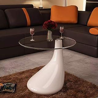 Tidyard Mesa de Centro Mesa de Cristal Mesa de Café de Vidrio para Estar o Dormitorio Diseño de Modernidad Vidrio de Segur...