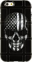 EGO Tactical Limited Edition Design UV-Printed onto a MAG485 Field Case Compatible with Apple iPhone 6 + Plus/iPhone 6s + Plus Black & White Subdued USA Flag Skull
