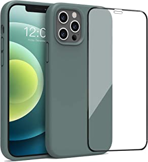 Easylisfs Case for iPhone 12 / iPhone 12 Pro Cover with Apple 12/12 Pro Tempered Glass Screen Protectors, Shockproof Anti-...