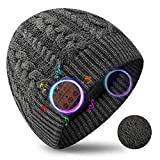 MISSHALO Bluetooth Beanie Winter Hat Birthday Gifts for Men Stocking Stuffers for Men Women Moms Gifts for Teenage Boys Mens Gifts for Men who Have Everything (Gray, 1)