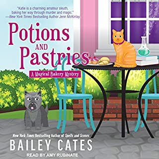 Potions and Pastries     Magical Bakery Mystery Series, Book 7              By:                                                                                                                                 Bailey Cates                               Narrated by:                                                                                                                                 Amy Rubinate                      Length: 7 hrs and 1 min     320 ratings     Overall 4.7